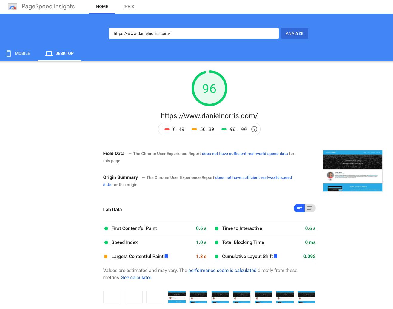 hubspot cms desktop google page speed
